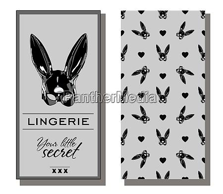 corporate identity dessous erotische muster kaninchen