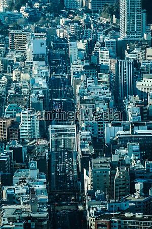 stadtbild vom yokohama landmark tower aus
