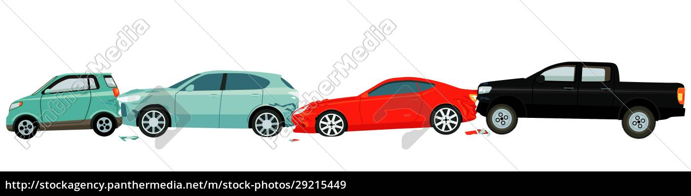 car, accident, -, isolated, on, white - 29215449