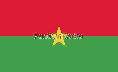 burkina faso nationalflagge in genauen proportionen