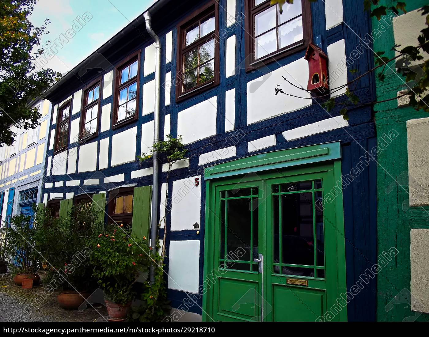 historic, half-timbered, house, in, an, old - 29218710