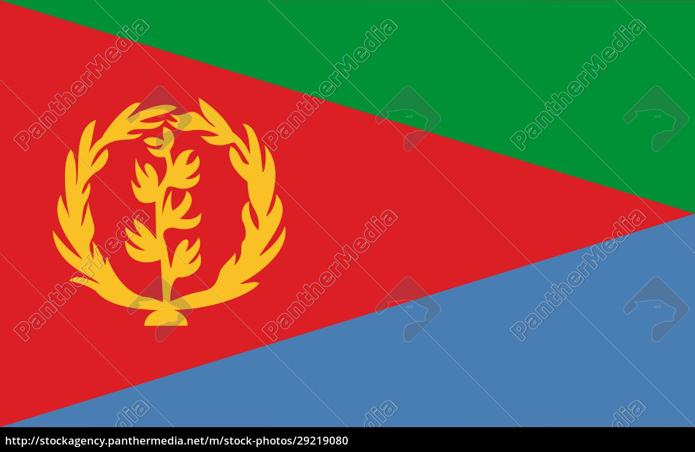eritrea, national, flag, in, exact, proportions - 29219080