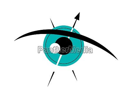 vektorauge im grafischen stil