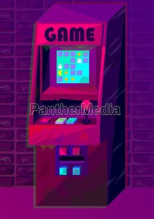 vektor arcade maschine im gradientenstil