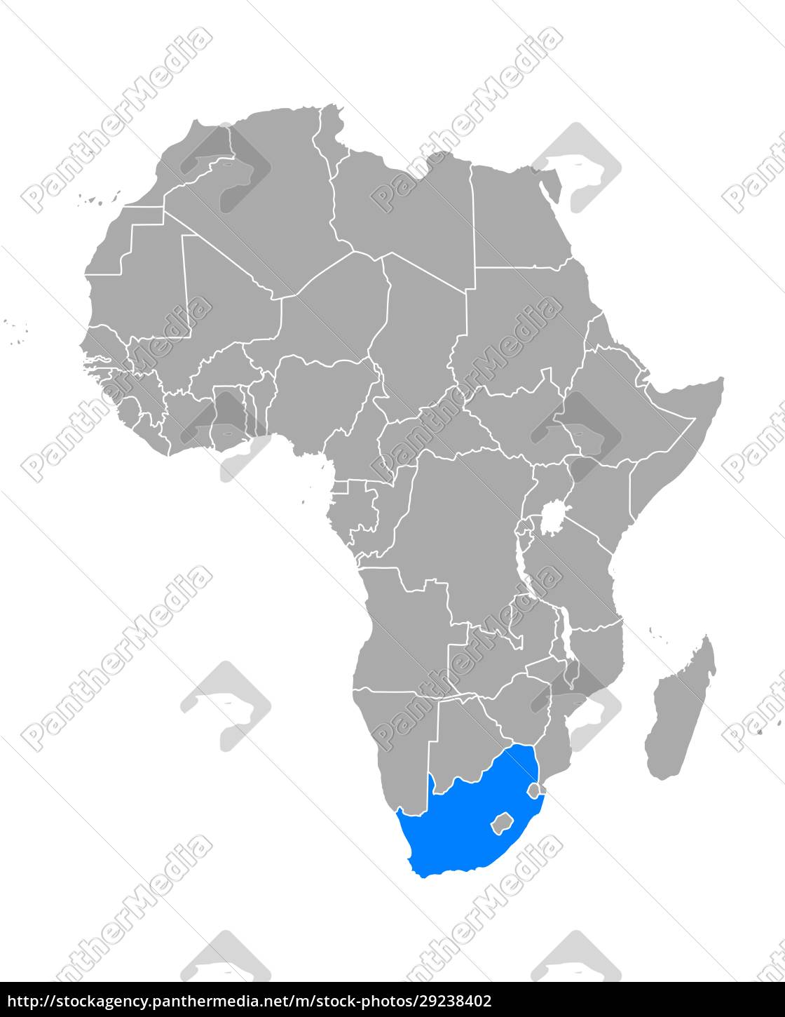 map, of, south, africa, in, africa - 29238402