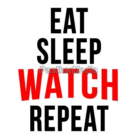 essen schlafuhr wiederholen