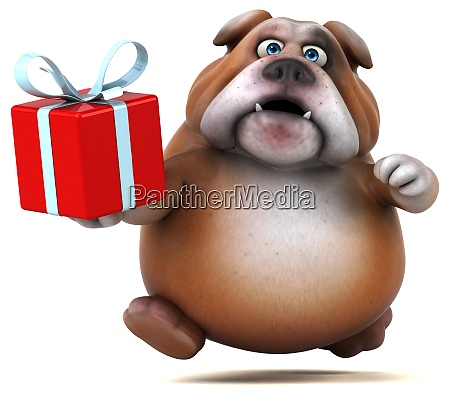 spass bulldogge 3d illustration