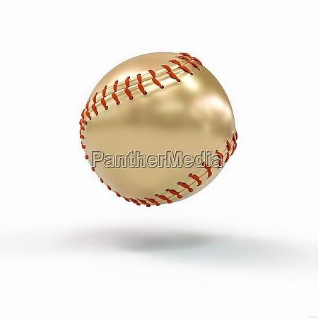 gold baseball ball auf weiss konzept