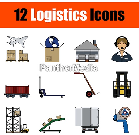 logistik icon set