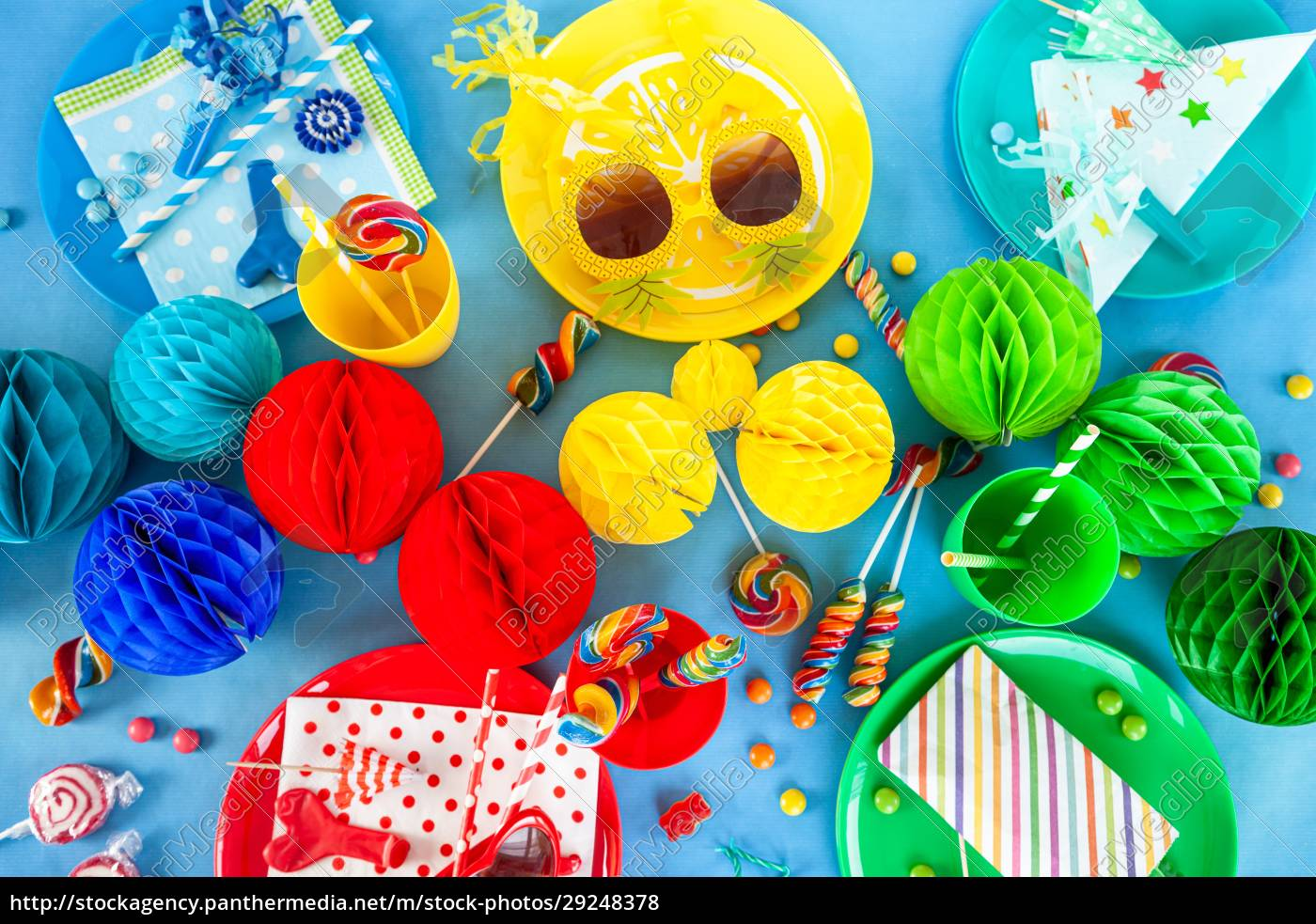 colorful, party, table, setting - 29248378