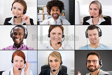 online videokonferenzanrufgruppenbildschirm