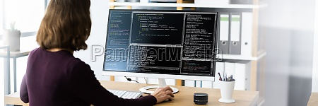 software programmierer oder coder frau