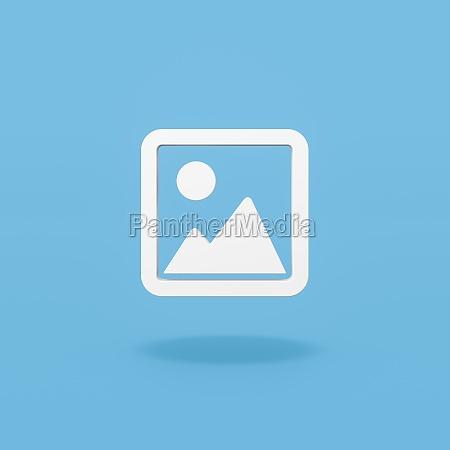 bildbildsymbol auf blauem hintergrund