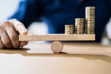geldhebel, und, inflationssaldo - 29256647