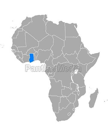 karte, von, ghana, in, afrika - 29265549