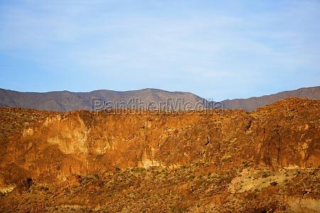 panoramablick auf die berge las vegas