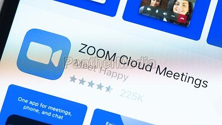 zoom app seite im app store