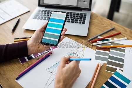 modedesigner kreatives design skizze