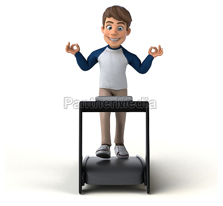 3d cartoon charakter spass teenager