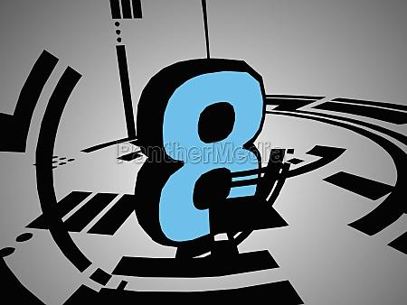 nummer 8 auf grauem hintergrund