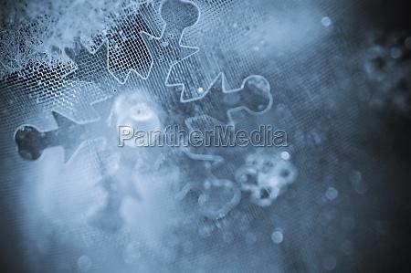 closeup eines weihnachtsschmucks