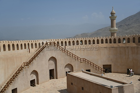 the large historical fortress fort nizwa
