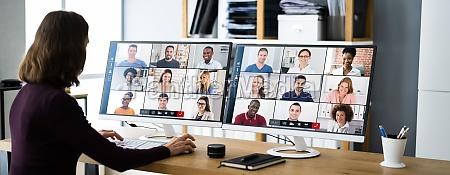 webinar der virtuellen videokonferenz