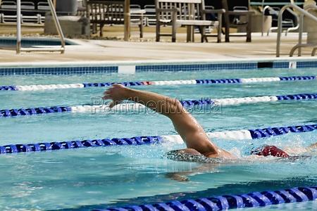 man, swimming, in, a, swimming, pool - 29439090