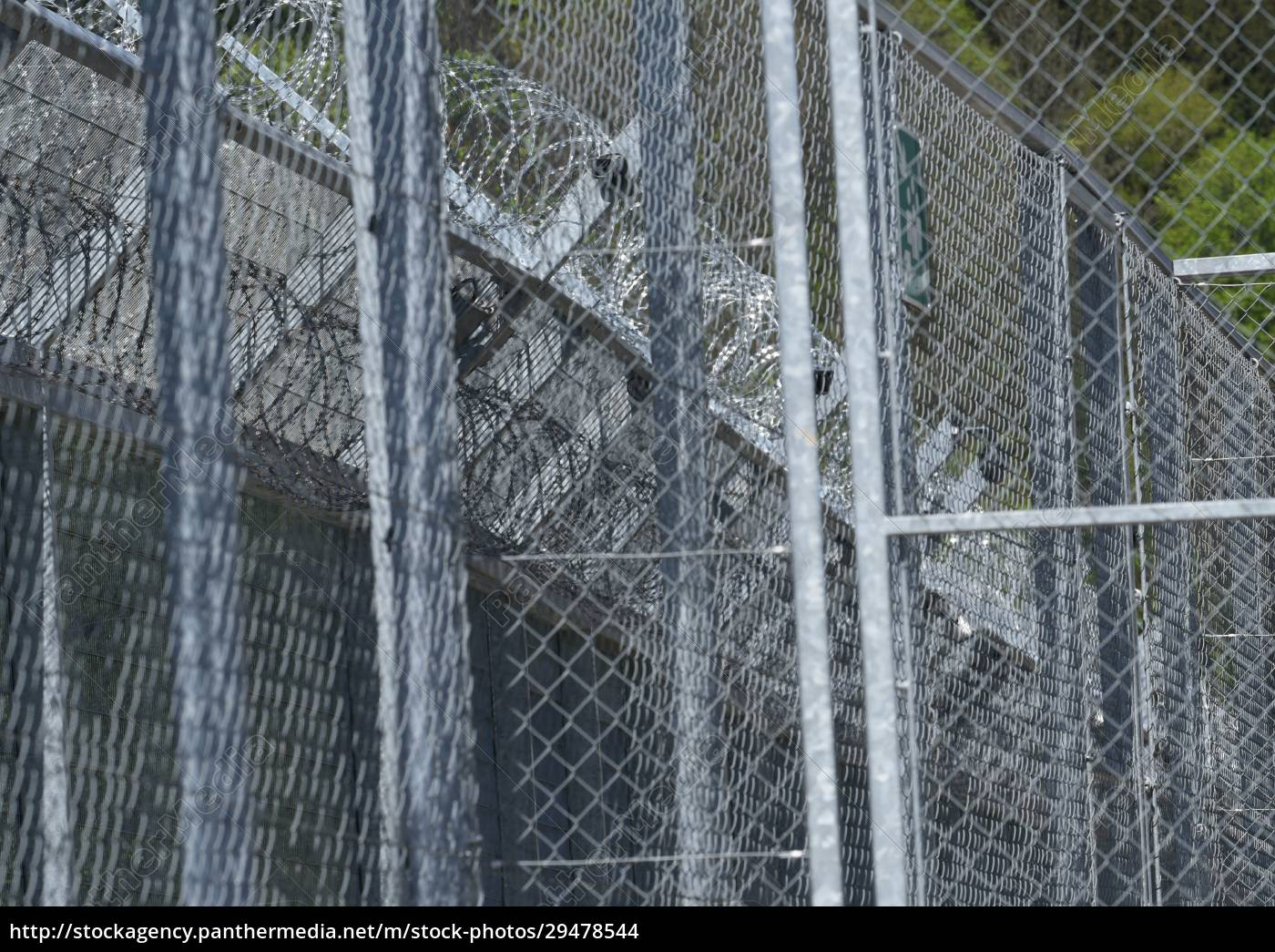 barbed, wire, fence, as, security, measurement - 29478544