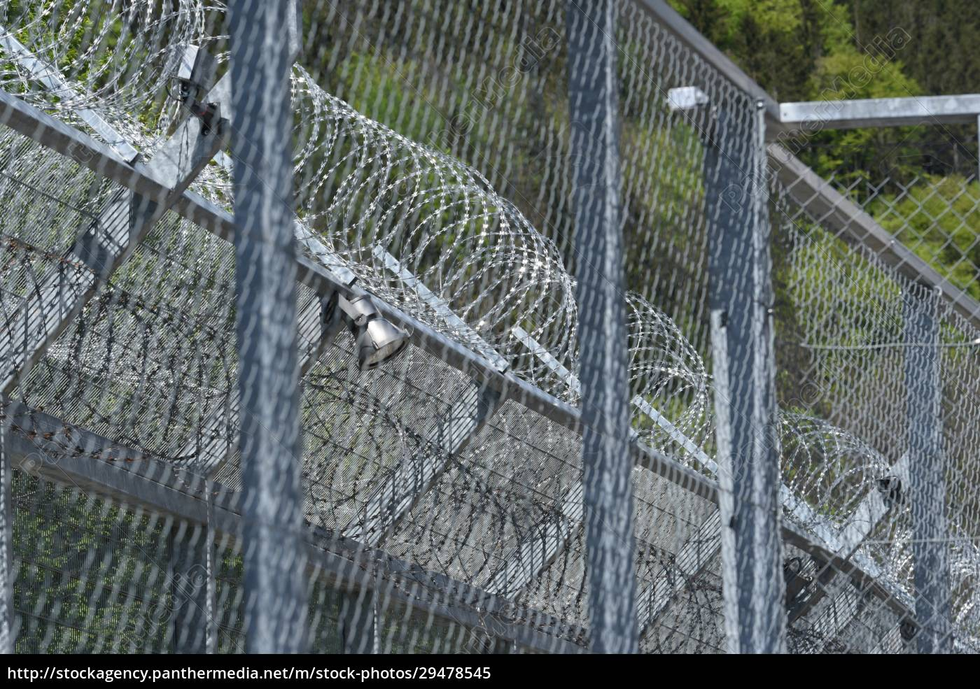 barbed, wire, fence, as, security, measurement - 29478545