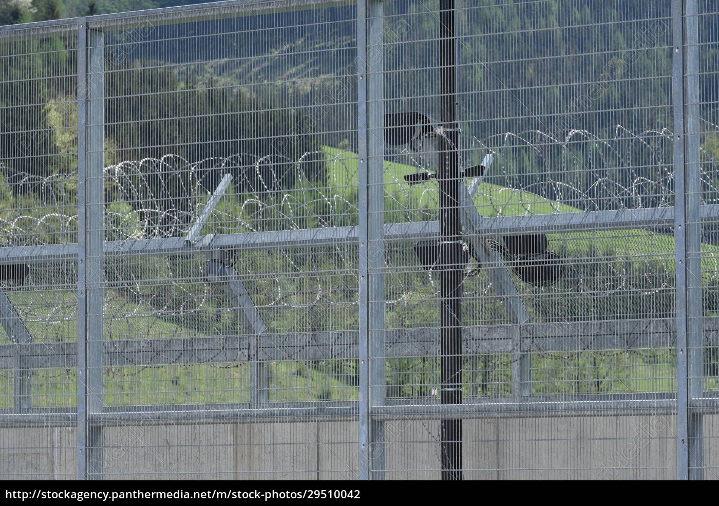 barbed, wire, fence, as, security, measurement - 29510042