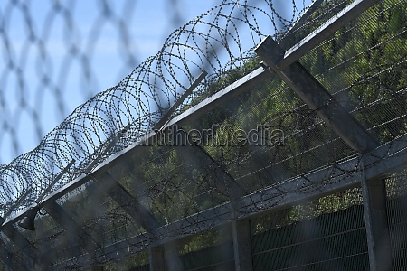 barbed, wire, fence, as, security, measurement - 29510045