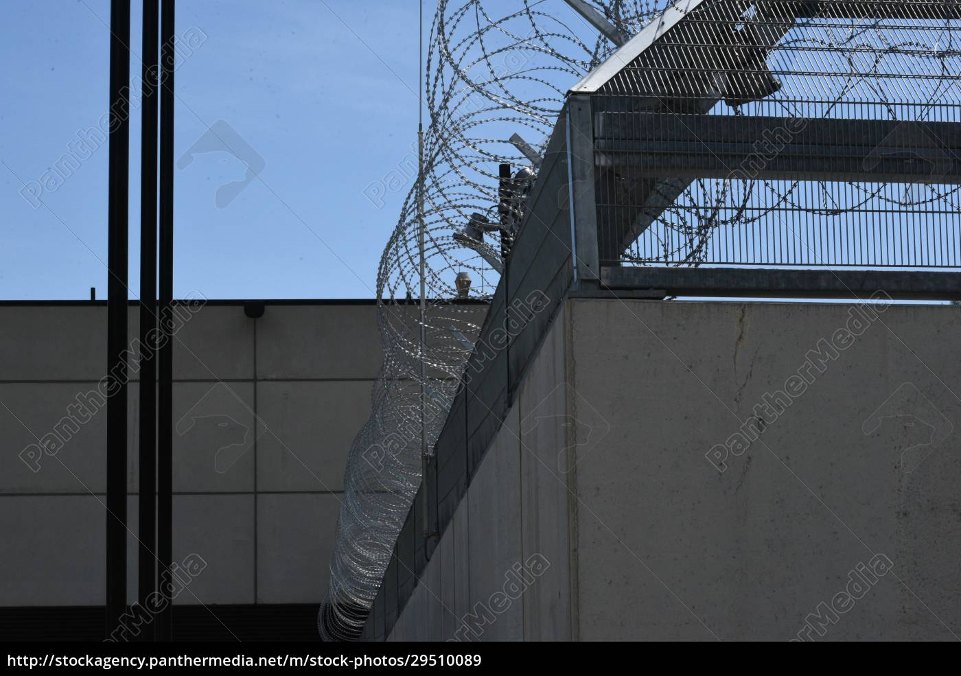 barbed, wire, fence, as, security, measurement - 29510089