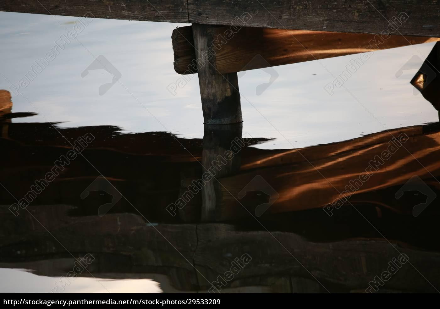 hölzerne, pier, und, reflexion - 29533209