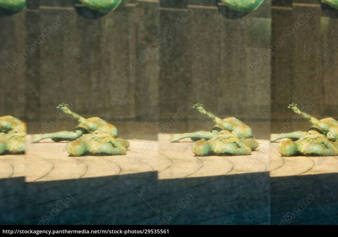 reflexion, einer, statue - 29535561