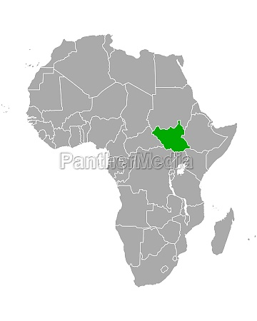 map, of, south, sudan, in, africa - 29563923