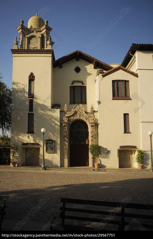 fassade, eines, gebäudes, mexican, culture, institute, los, angeles, kalifornien, usa - 29567751