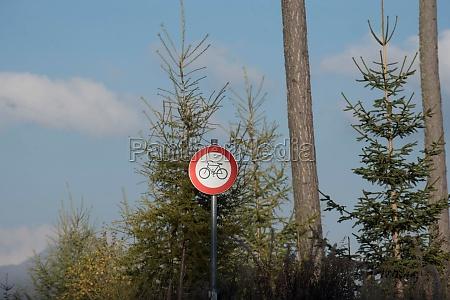 fahrverbot fuer radfahrer auf forststrasse
