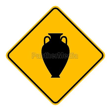 amphora und verkehrszeichen