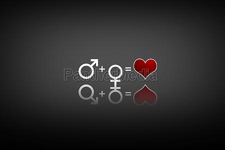 gluecklicher valentinstag geschlecht symbol der liebe