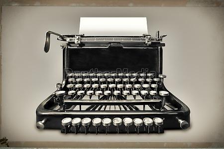 vintage schreibmaschine mit kopierraum
