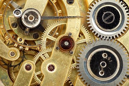 nahaufnahme des alten uhruhr mechanismus