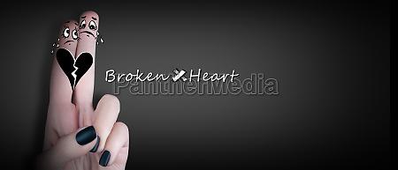 gebrochenes herz liebe und valentinstag konzept
