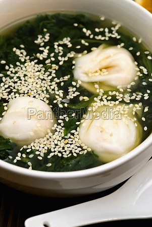 close-up, of, chinese, dumplings, in, a - 29598226