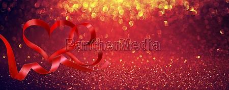 glueckliche valentinstag herzfoermige elegante band symbol