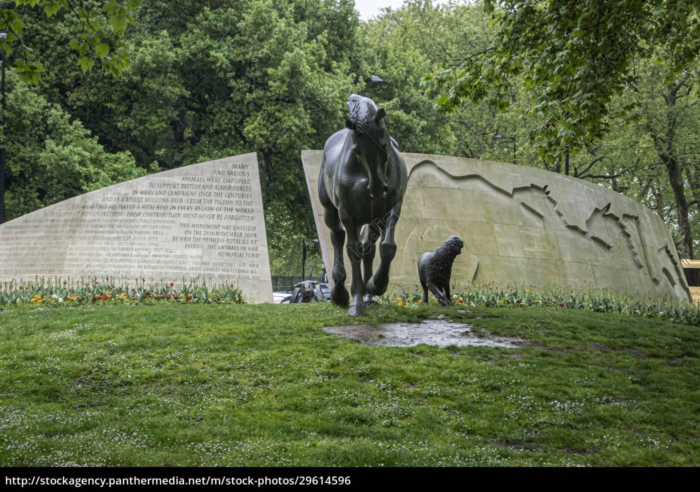 animals, in, war, memorial, , london, , uk - 29614596