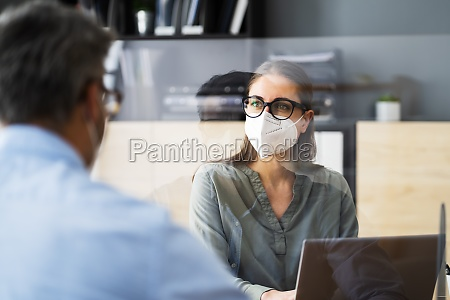 mitarbeiter business job interview