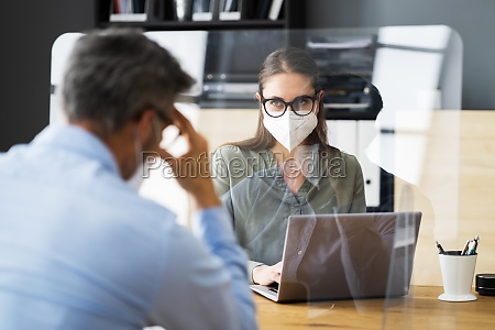 job interview mit sneeze guard