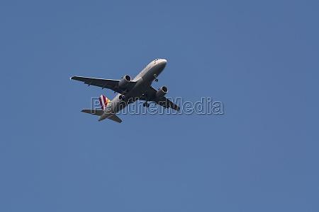passagierflugzeuglandung