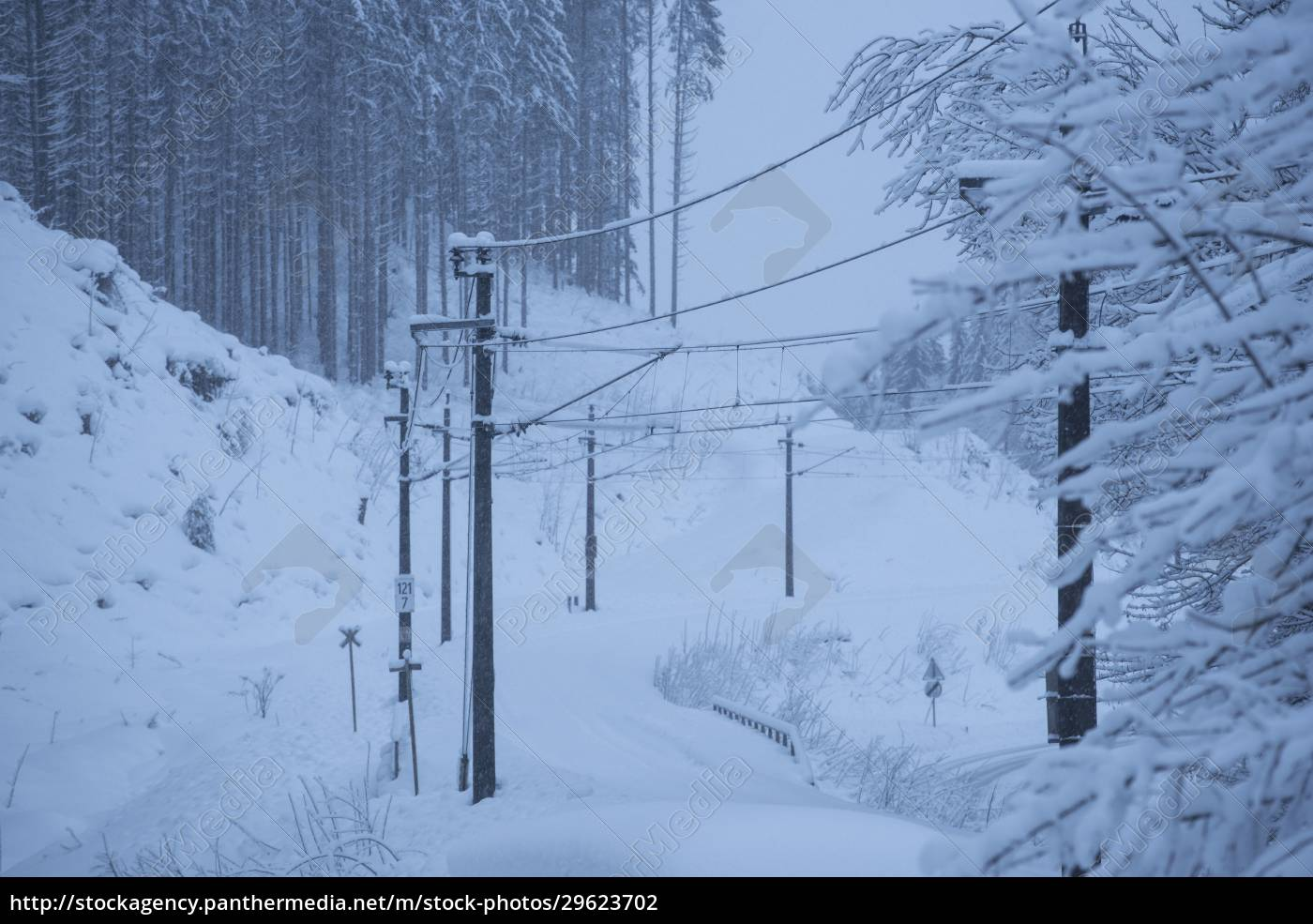 railway, track, system, in, winter - 29623702